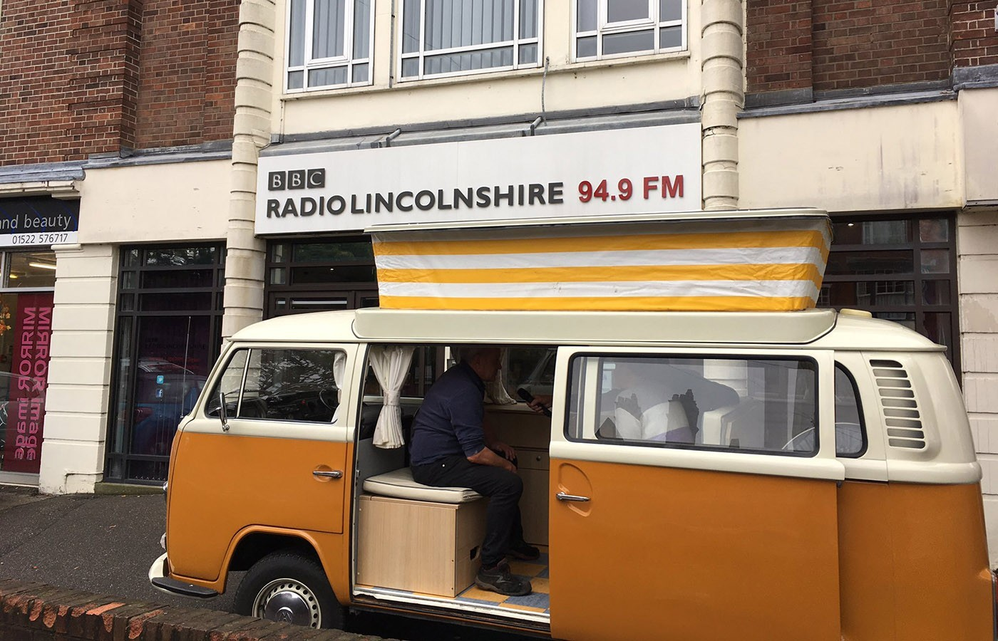 vw campervan at bbc lincolnshire