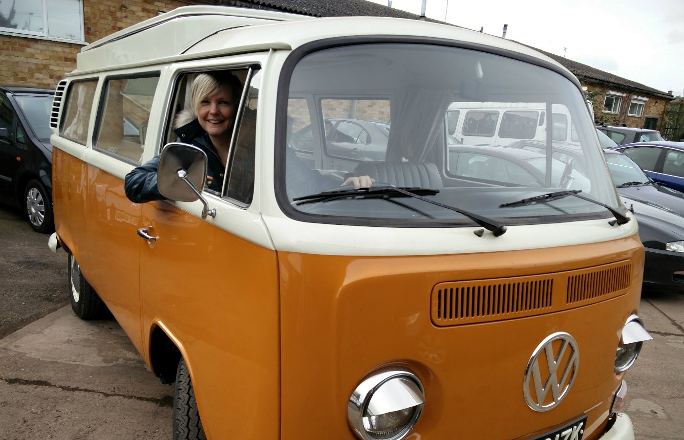 anne in her van
