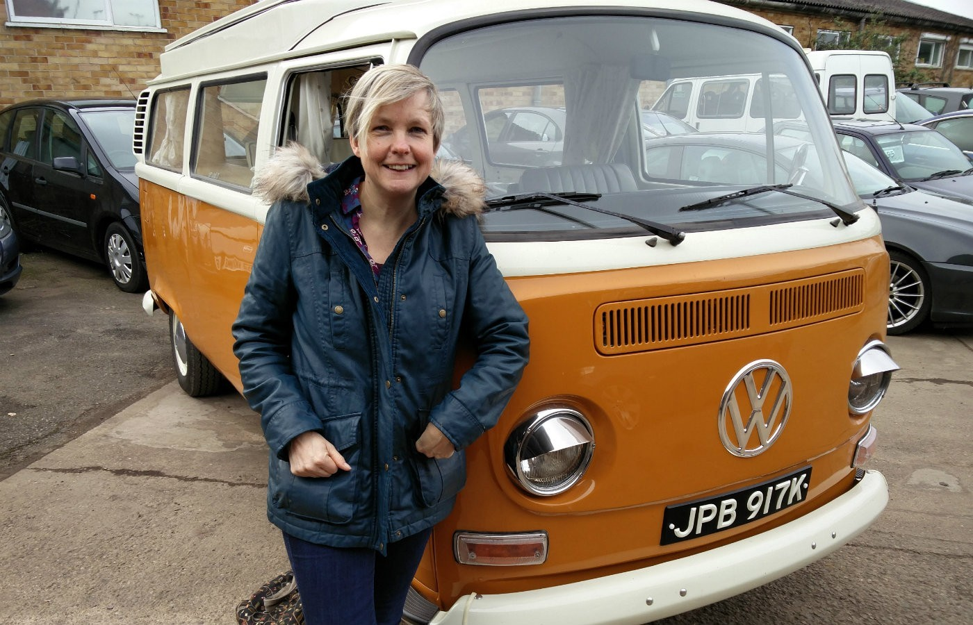 anne with vw campervan