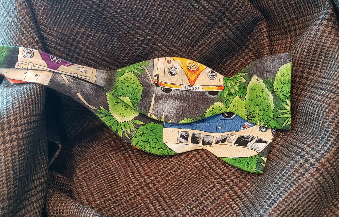 vw campervan themed bowtie