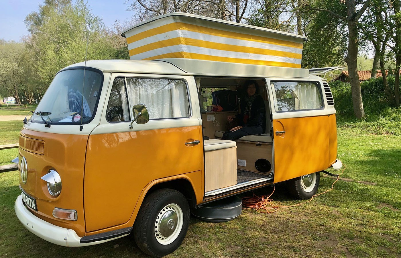 vw campervan in tattershall
