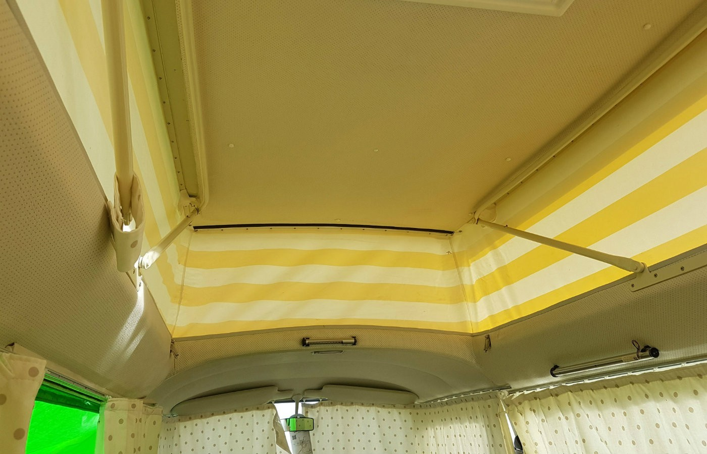 inside vw campervan