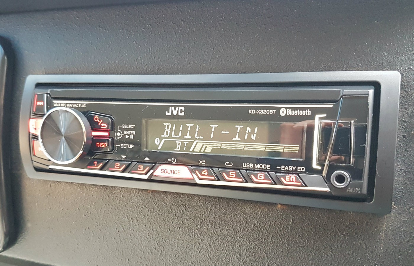 jvc radio campervan