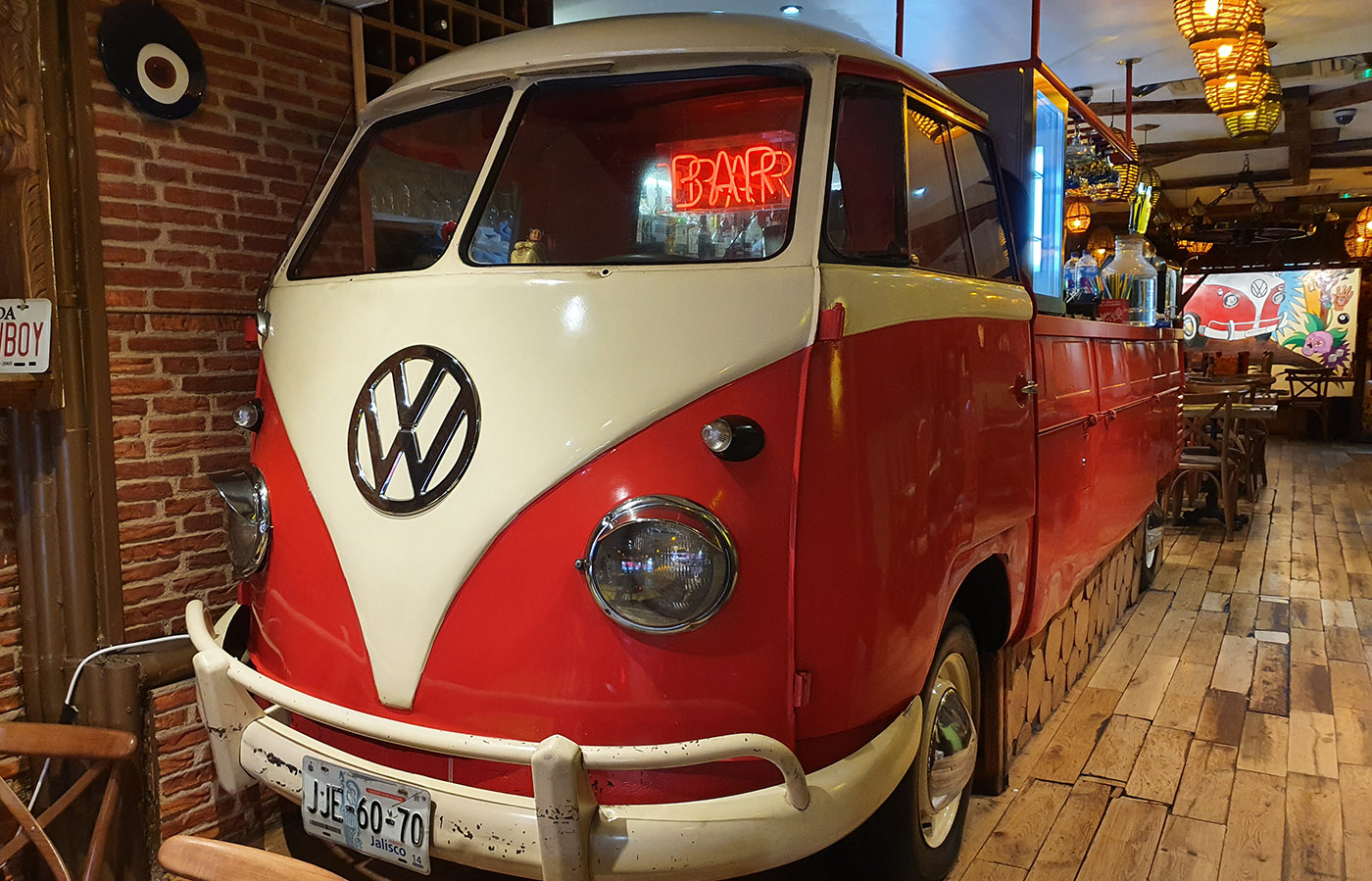 red vw splitty