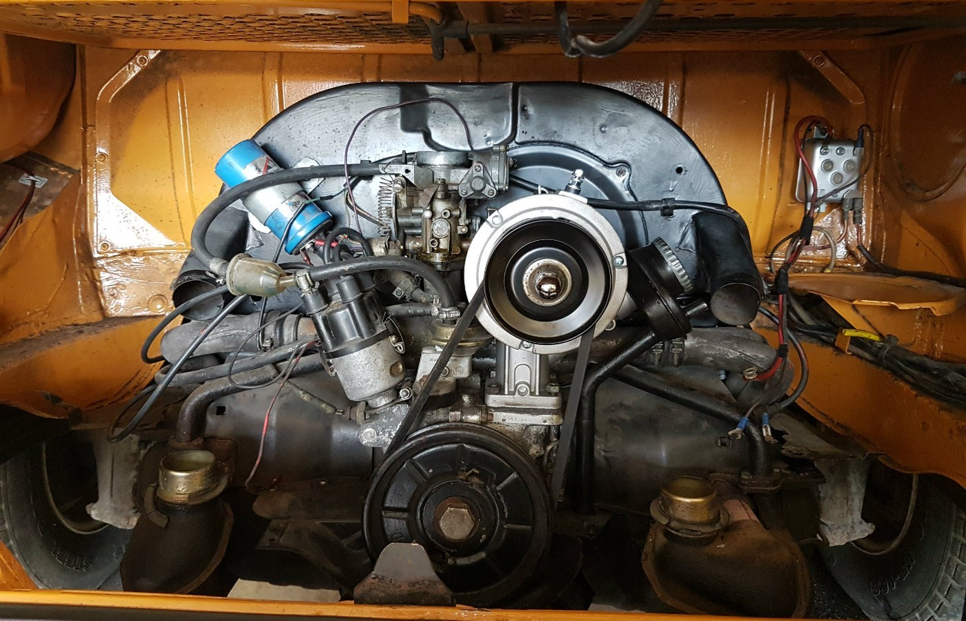 vw campervan engine