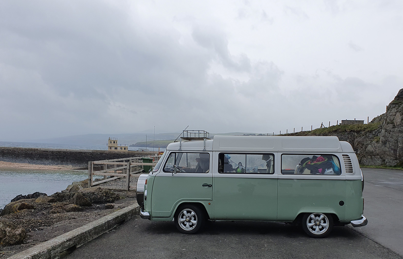 vw campervan in isle of man