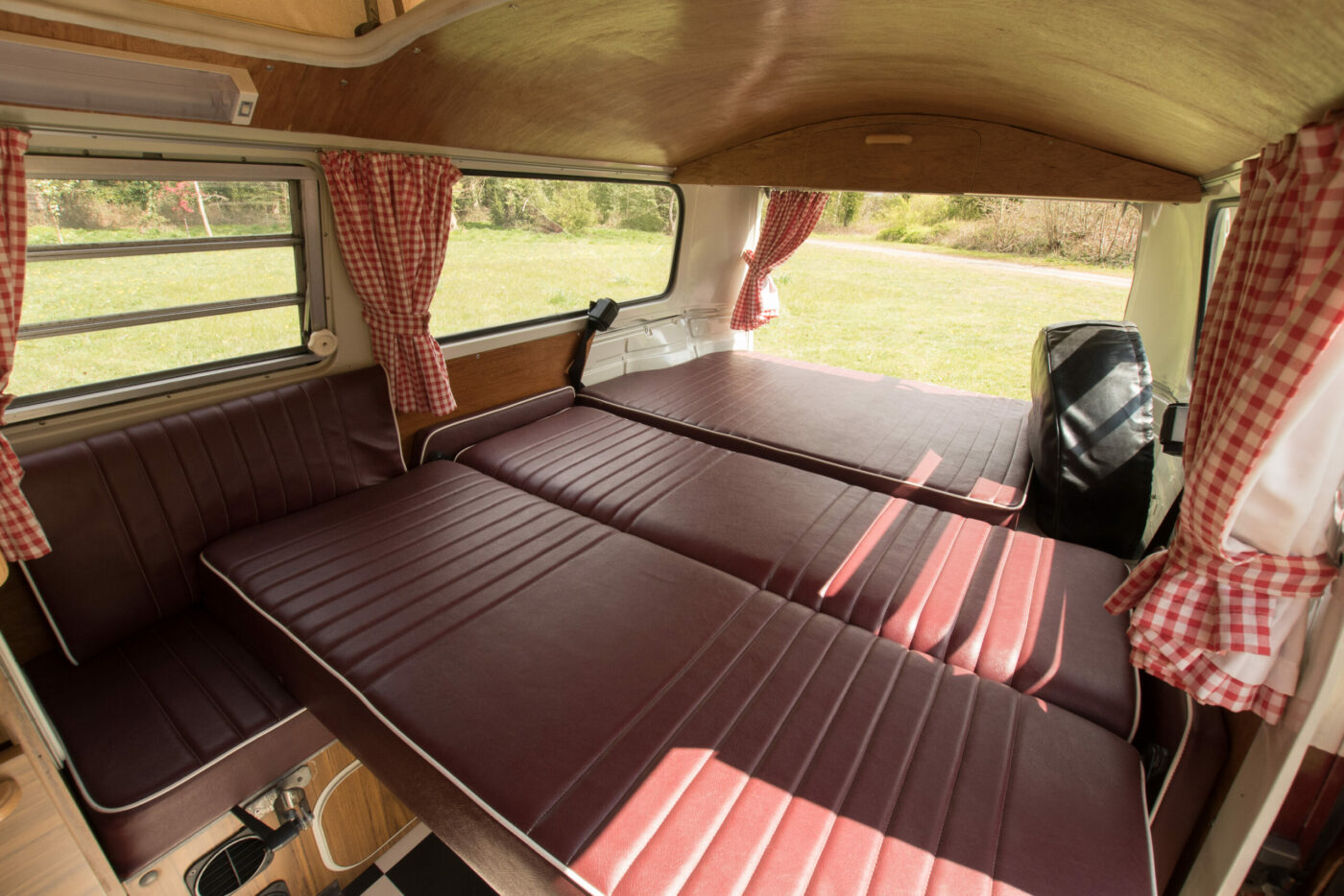 rock and roll bed vw campervan ruby