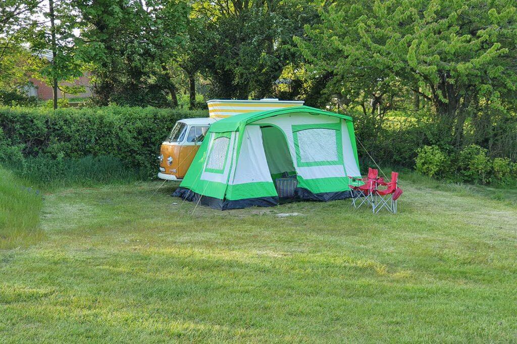 vw campoevan at Manor Farm campsite