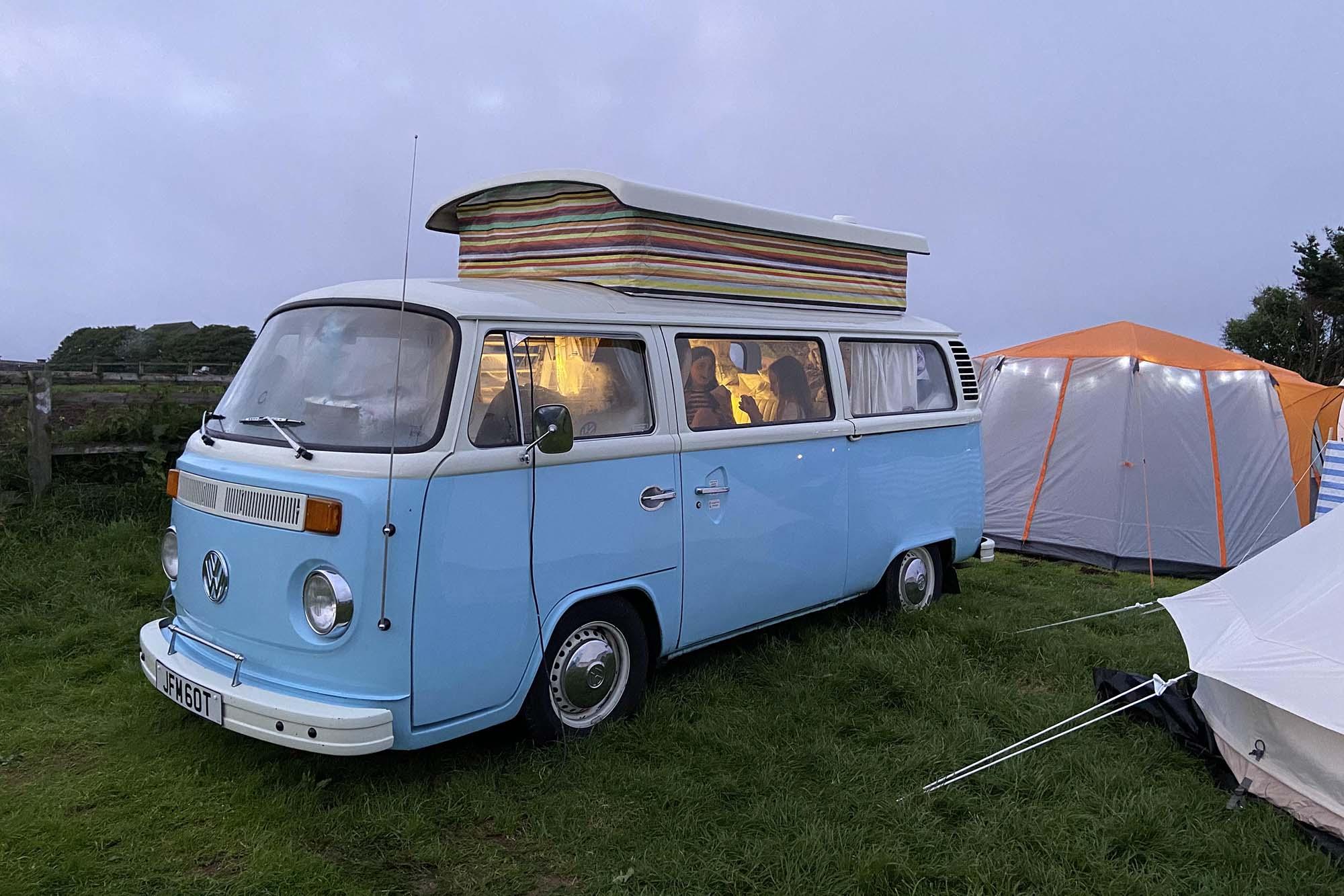 campervan bertie at dusk