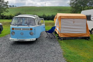 campervan bertie with standalone driveaway awning