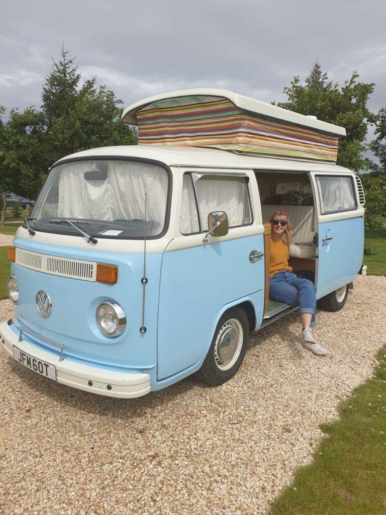 VW Camper-van Bertie at Hanworth Country Park