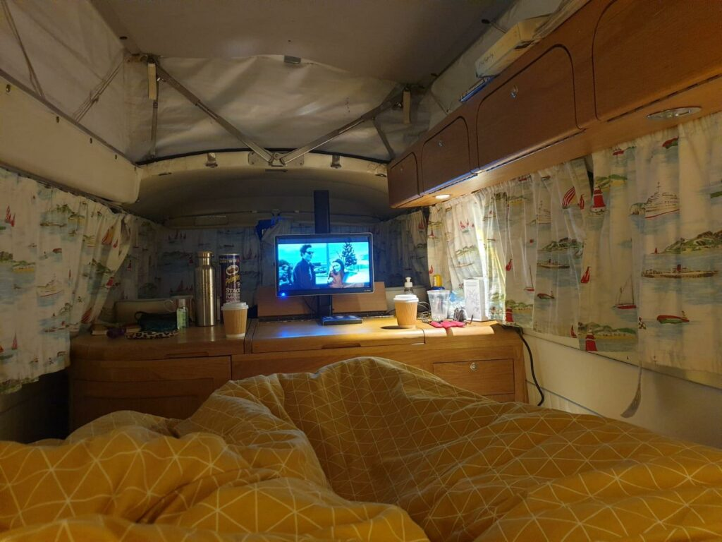 Inside VW Camper-van Bertie