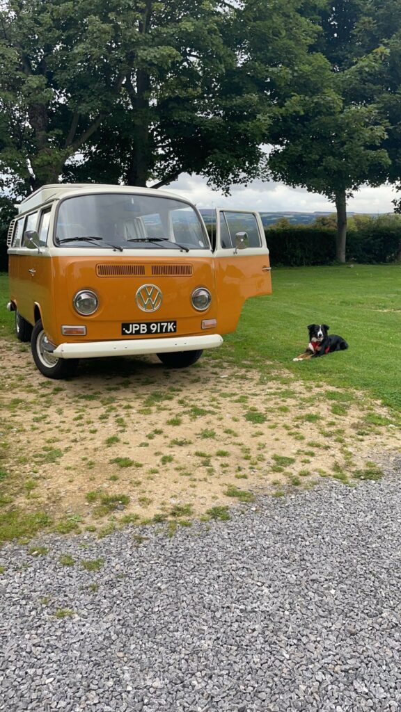 VW campervan Betty at the campsite